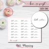 Bath Time Bow Script Stickers