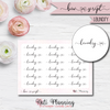 Laundry Bow Script Stickers