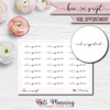 Nail Appointment Bow Script Stickers