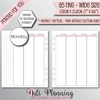 WEEKLY VERTICAL EC PINK WITHOUT BOTTOM LINES INSERTS - A5 WIDE Size