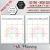 MONTHLY RAINBOW MO2P INSERTS - A5 WIDE Size