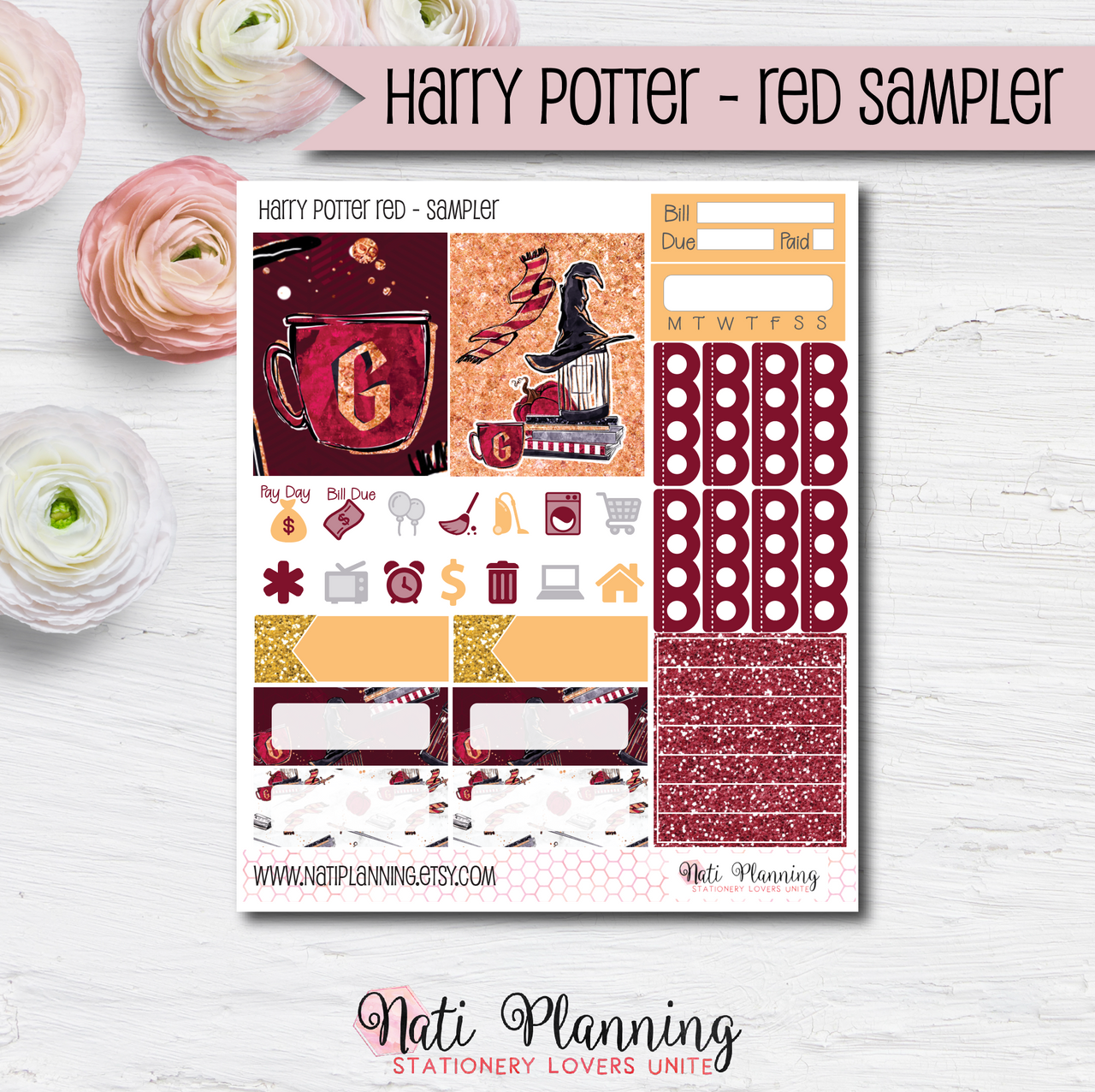 Gryffindor Red Wizardry  - Kit SAMPLER