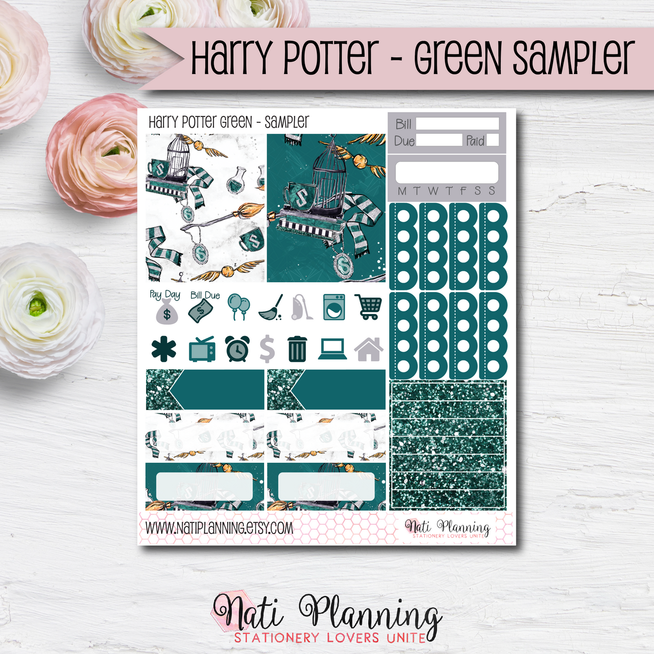 Slytherin Green Wizardry - Kit SAMPLER