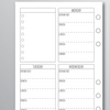 MEAL PLANNER PLAIN - Personal WIDE Size
