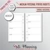 WEEKLY HORIZONTAL PLAIN - Personal Medium Size