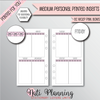 WEEKLY VERTICAL EC STYLE PINK BOW HEADER - Personal Medium Size