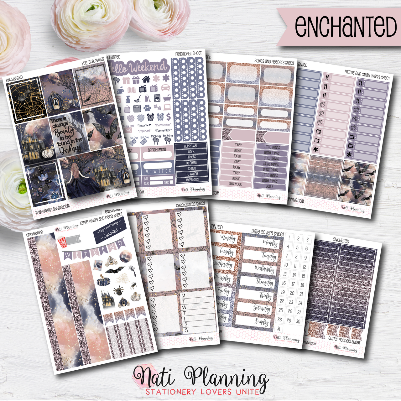 Enchanted - INDIVIDUAL Sticker Sheets