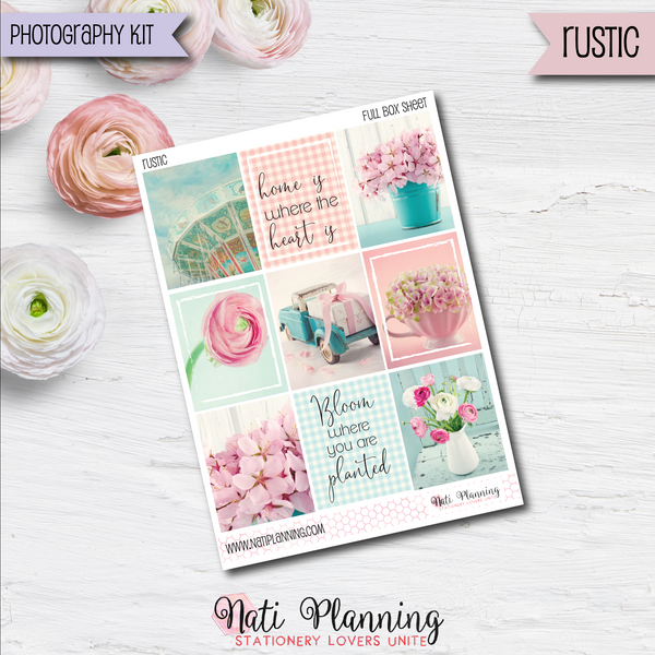 Rustic - Weekly VERTICAL Sticker Kit