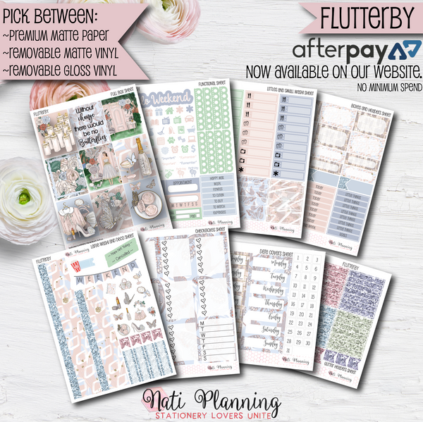 Flutterby - INDIVIDUAL Sticker Sheets