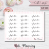 Heart Script Stickers - Part 2 - Multiple Word Options