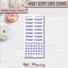 Date Cover Stickers - Heart Script Series