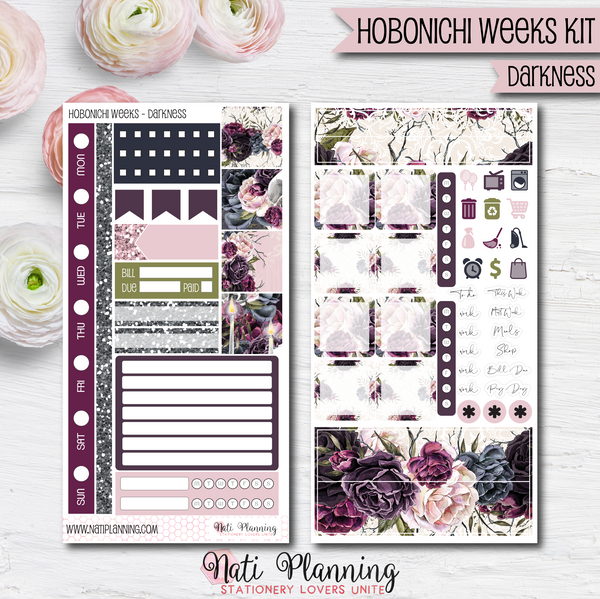 Darkness - HOBONICHI WEEKS Sticker Kit