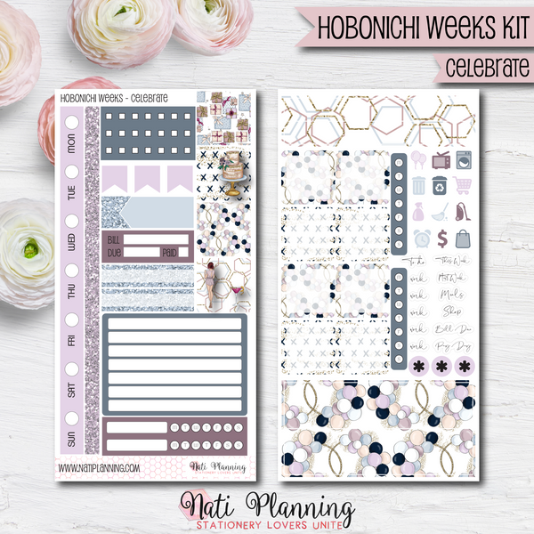 Celebrate - HOBONICHI WEEKS Sticker Kit
