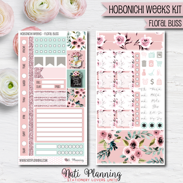 Floral Bliss - HOBONICHI WEEKS Sticker Kit