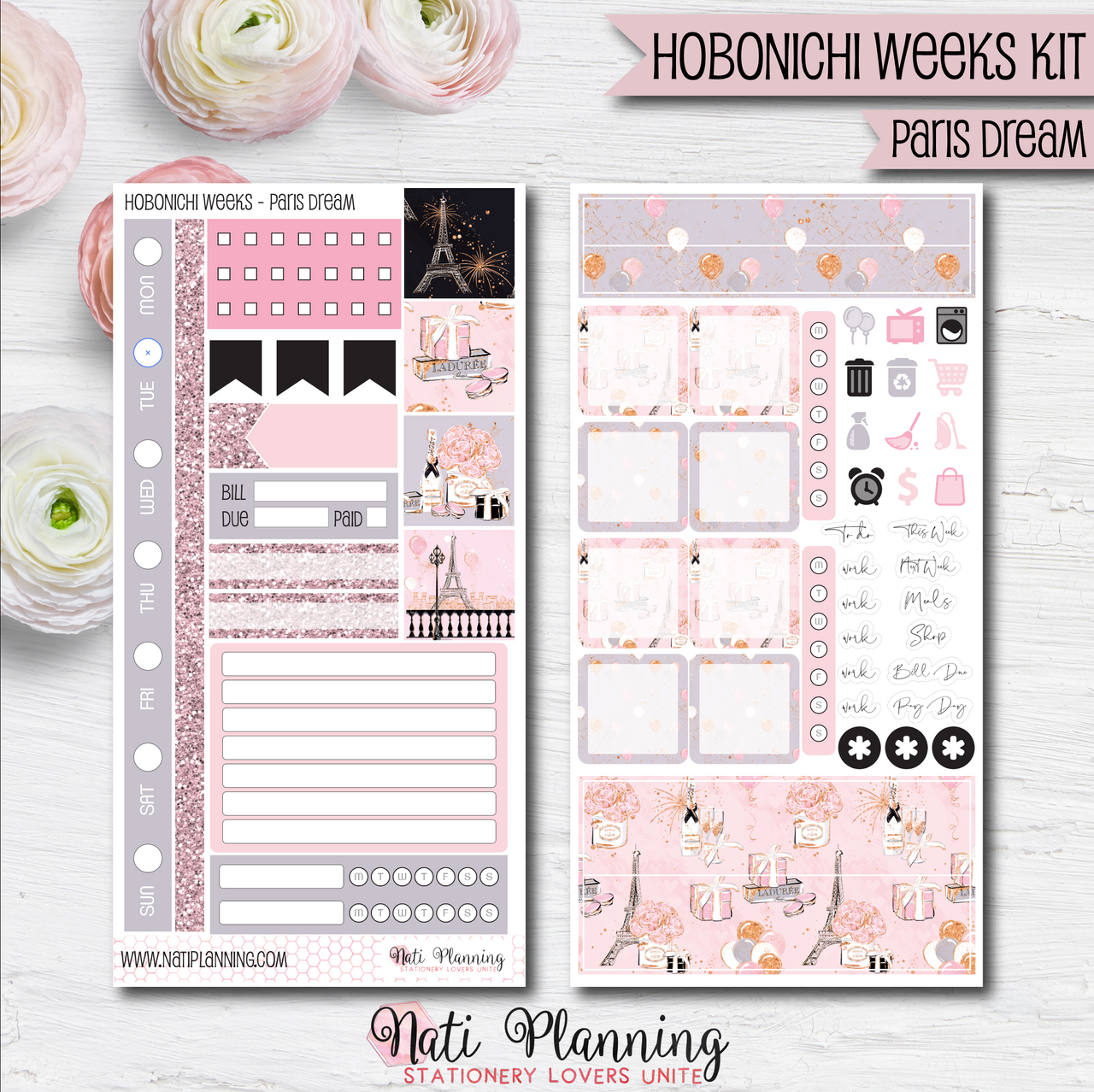 Paris Dream - HOBONICHI WEEKS Sticker Kit