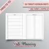 MEAL PLANNER AND SHOPPING LIST TN - B6 NO.5 SIZE INSERTS