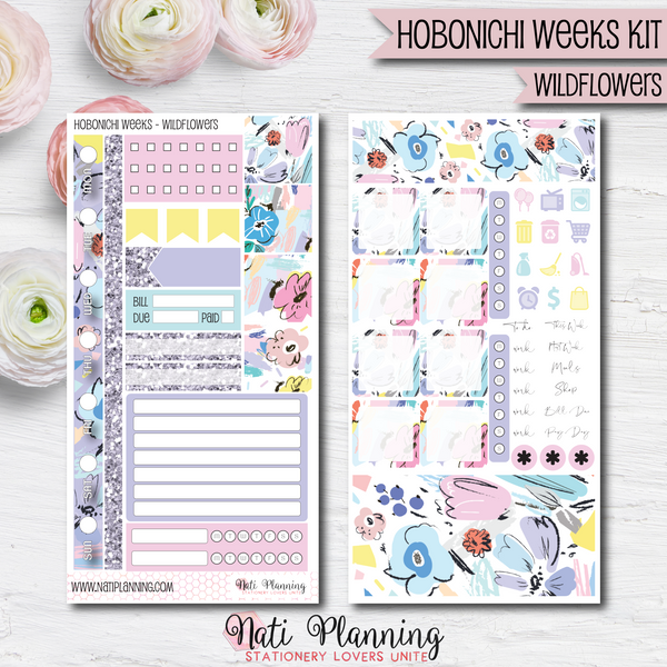 Wildflowers - HOBONICHI WEEKS Sticker Kit