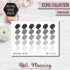 Oven Glove Stickers - Icons Collection Stickers