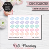 Muffin Cupcake Tray Stickers - Icons Collection Stickers