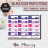 Bill Due Functional Colour Palette Stickers