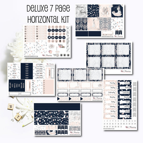 Sheer Elegance - Weekly HORIZONTAL Sticker Kit