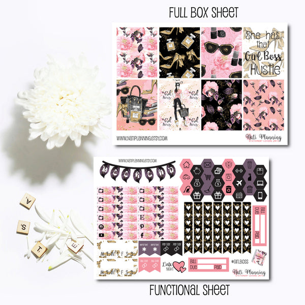 Girl Boss - INDIVIDUAL Sticker Sheets