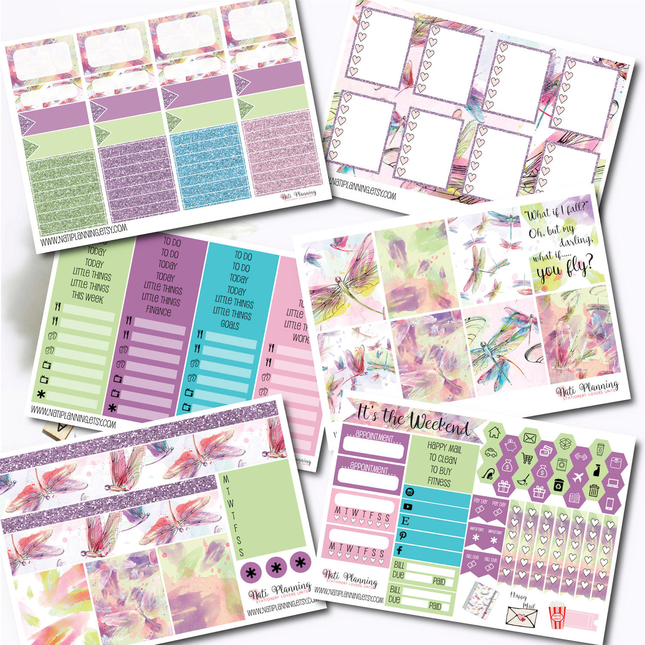 Dragon Fly Delight - INDIVIDUAL Sticker Sheets