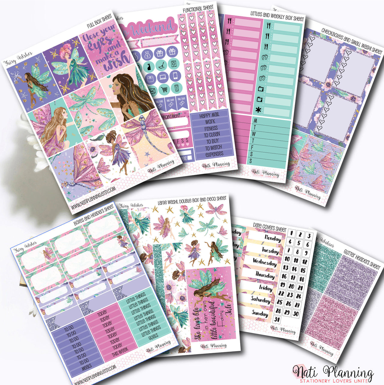 Fairy Wishes - INDIVIDUAL Sticker Sheets