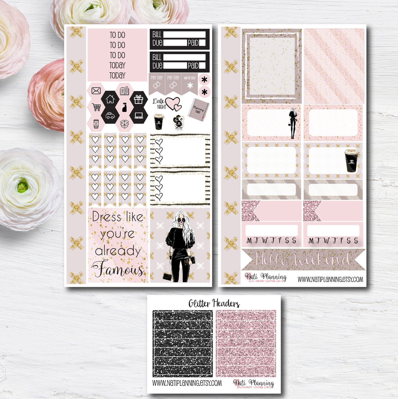 Fashion Forecast - Weekly PERSONAL MINI Sticker Kit