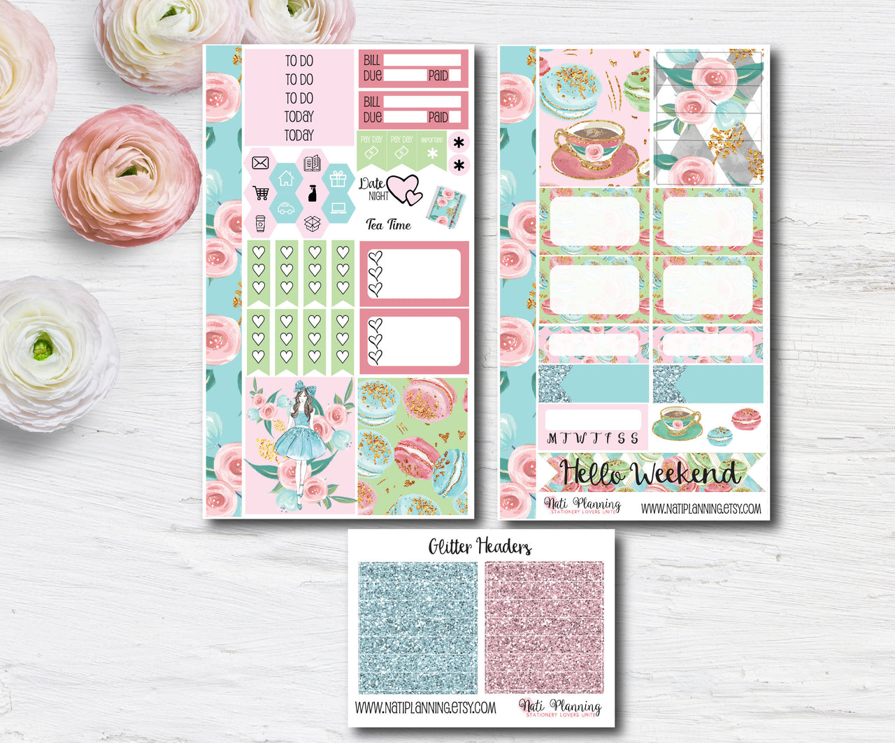 High Tea - Weekly PERSONAL MINI Sticker Kit