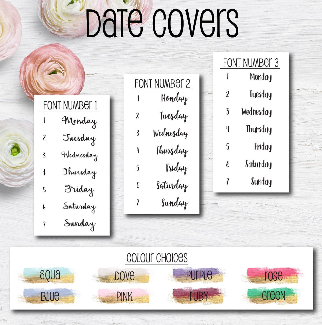 Date Cover Stickers - Series One