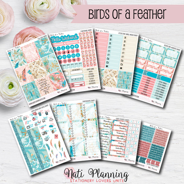 Birds of a Feather - Weekly VERTICAL Sticker Kit