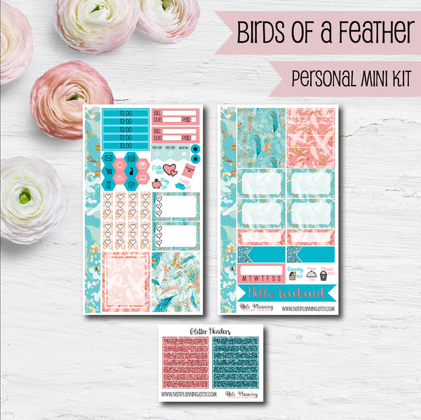 Birds of a Feather - Weekly PERSONAL MINI Sticker Kit