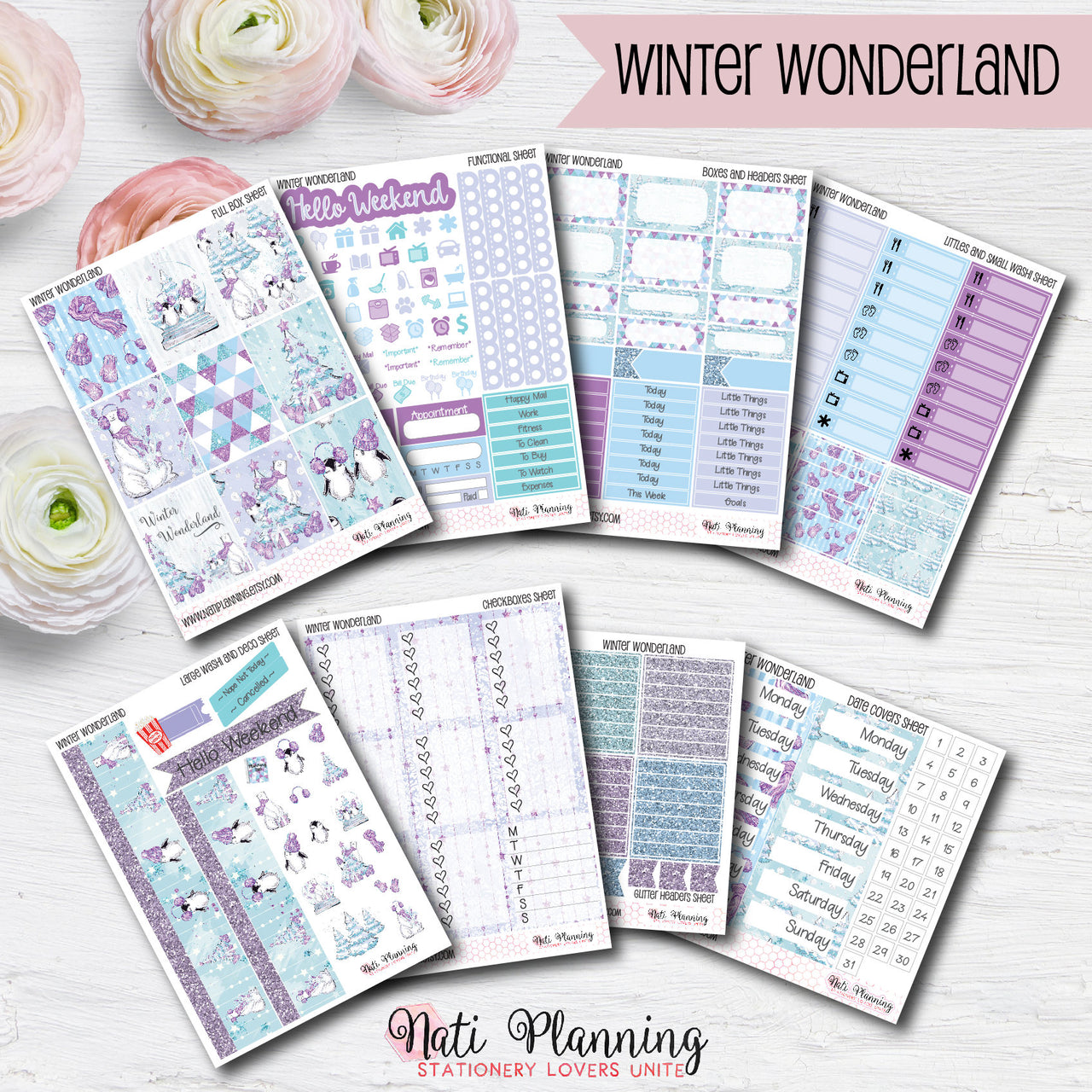 Winter Wonderland - INDIVIDUAL Sticker Sheets