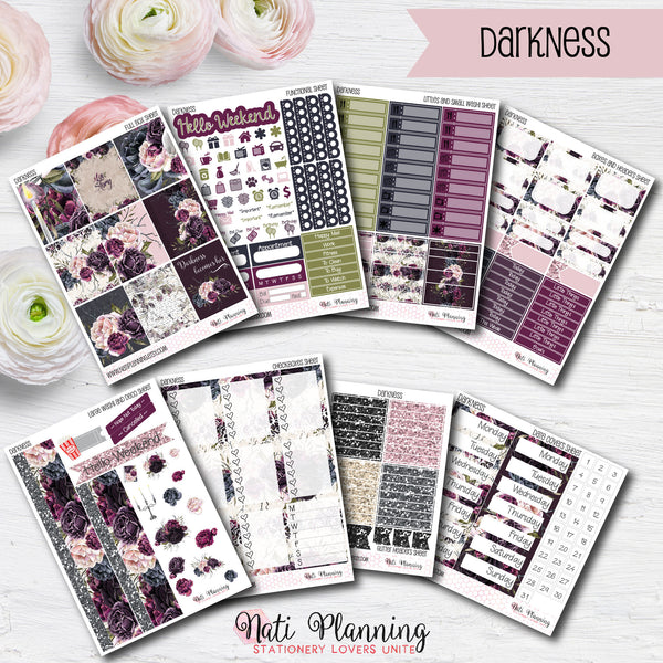 Darkness - INDIVIDUAL Sticker Sheets