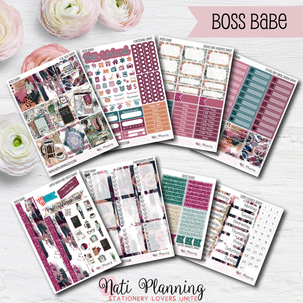 Boss Babe - INDIVIDUAL Sticker Sheets