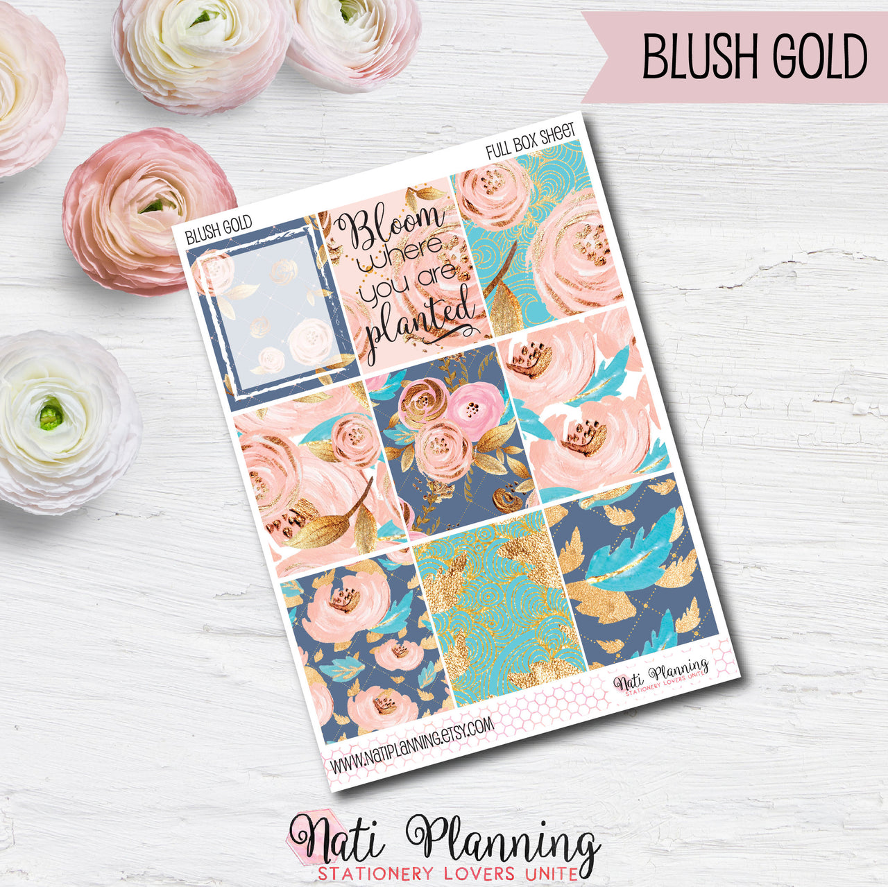 Blush Gold - INDIVIDUAL Sticker Sheets