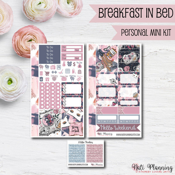 Breakfast in Bed - Weekly PERSONAL MINI Sticker Kit