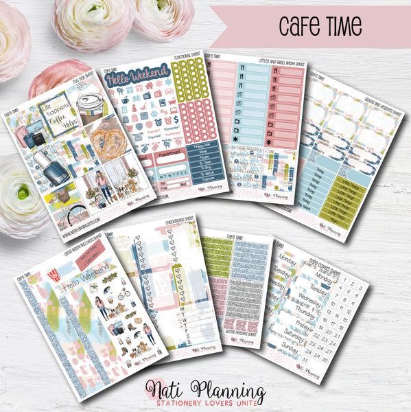 Cafe Time - INDIVIDUAL Sticker Sheets