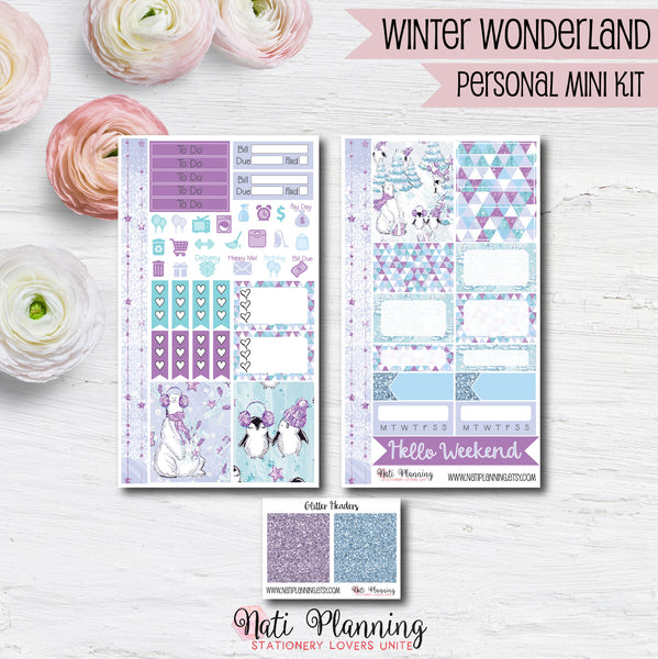 Winter Wonderland - Weekly PERSONAL MINI Sticker Kit