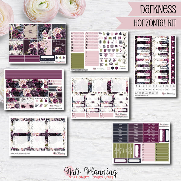 Darkness - Weekly HORIZONTAL Sticker Kit