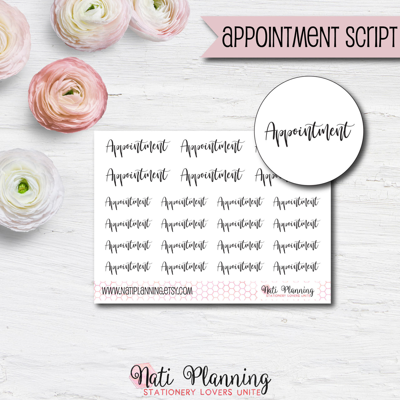 Appointment Script Stickers
