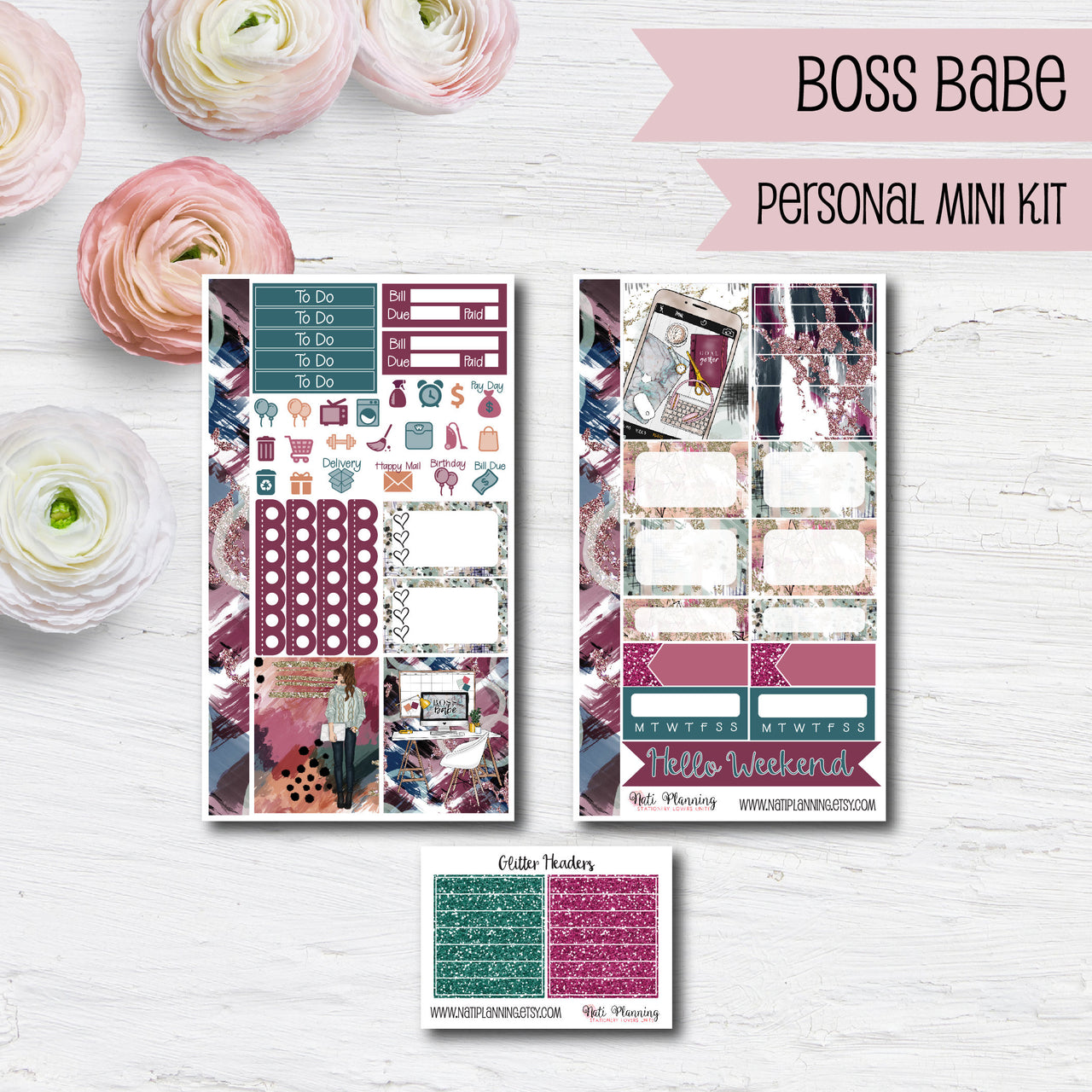 Boss Babe - Weekly PERSONAL MINI Sticker Kit