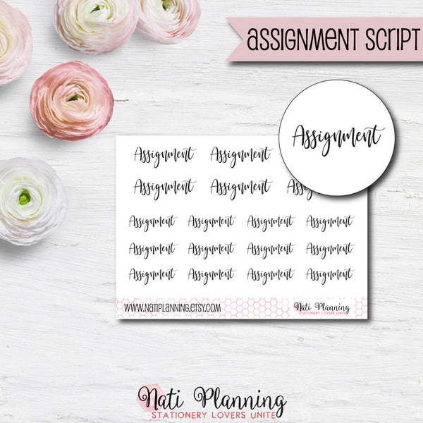 Assignment Script Stickers