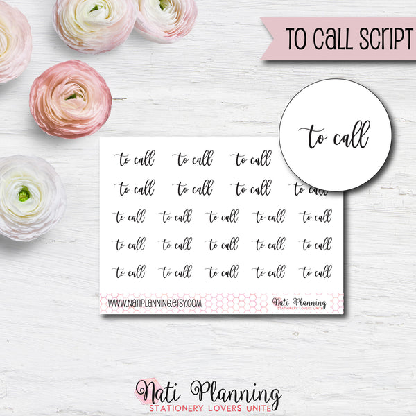 To Call Script Stickers