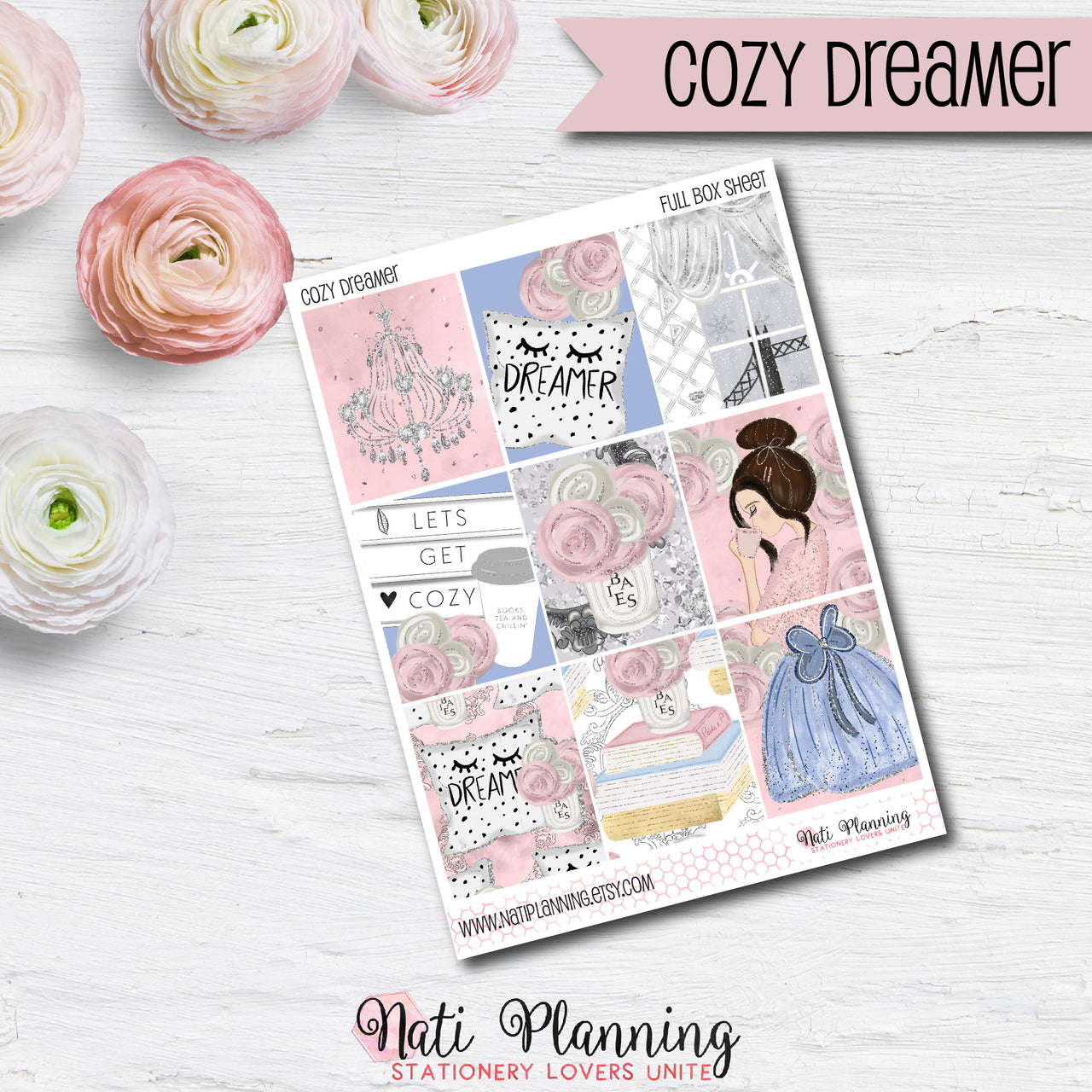 Cozy Dreamer - INDIVIDUAL Sticker Sheets