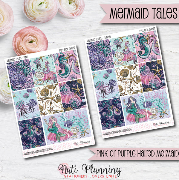 Mermaid Tales - INDIVIDUAL Sticker Sheets