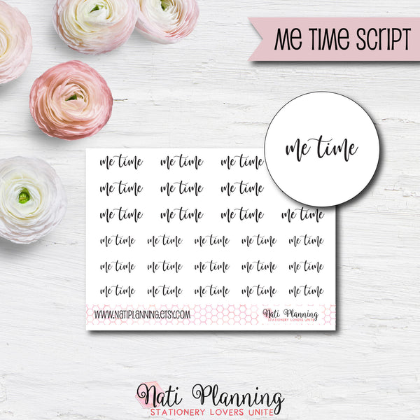 Me Time Script Stickers