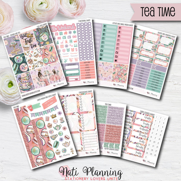 Tea Time - INDIVIDUAL Sticker Sheets
