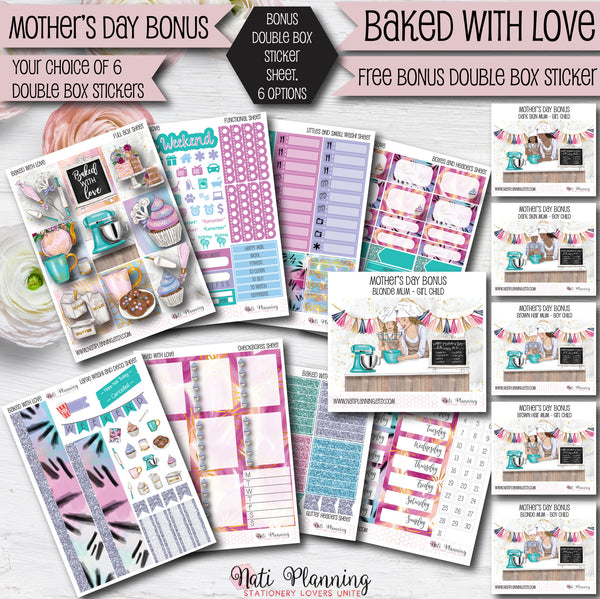 Baked With Love - INDIVIDUAL Sticker Sheets